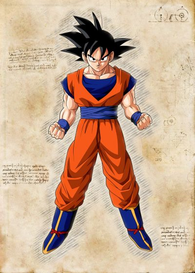 Pergament - Dragon Ball - Son-Goku