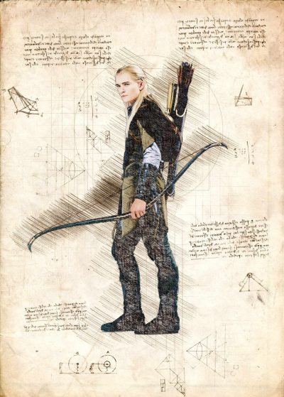 Pergament - Lord of the rings - Legolas