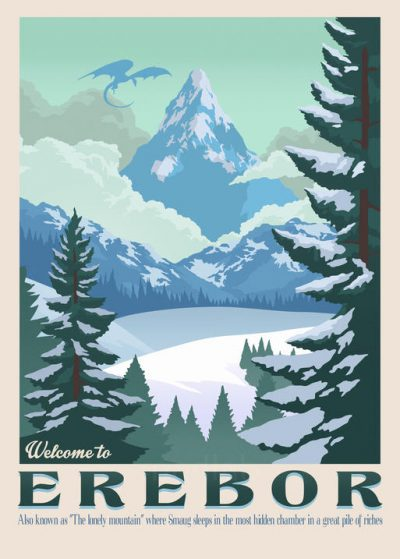 A3 Print - Lord of the rings - Welcome to Erebor