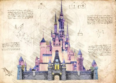 Pergament - Disney Castle