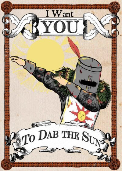 A3 Print - Dark Souls - Dab the sun