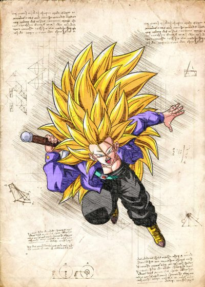 Pergament - Dragon Ball - Trunks