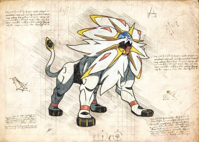 Pergament - Pokemon - Solgaleo