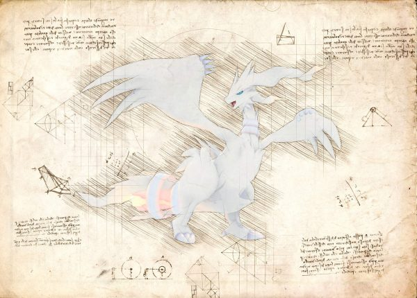 Pergament - Pokemon - Reshiram