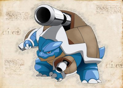 Pergament - Pokemon - Blastoise 2