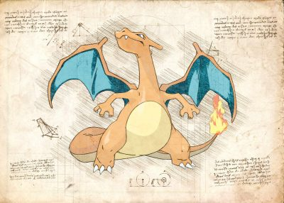 Pergament - Pokemon - Charizard