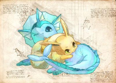 Pergament - Pokemon - Vaporeon
