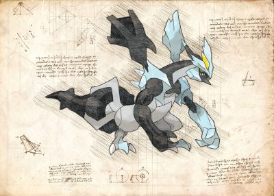 Pergament - Pokemon - Kyurem Black