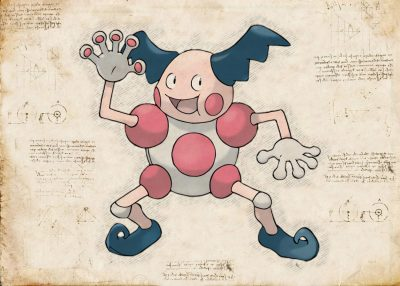Pergament - Pokemon - Mr Mime