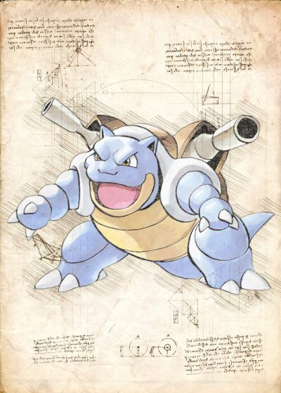 Pergament - Pokemon - Blastoise
