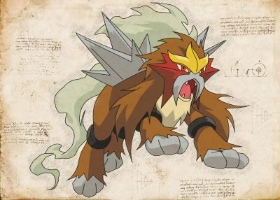 Pergament - Pokemon - Entei