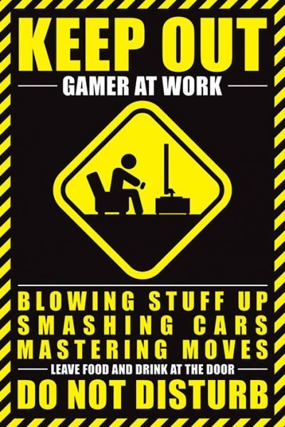 Lazy Posters Gamer At Work
