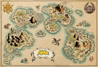 Pergament - Pokemon - Alola map