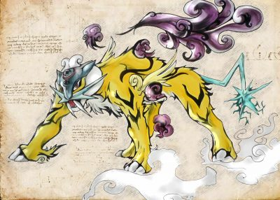 Pergament - Pokemon - Raikou