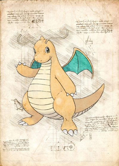 Pergament - Pokemon - Dragonite