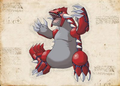 Pergament - Pokemon - Groudon