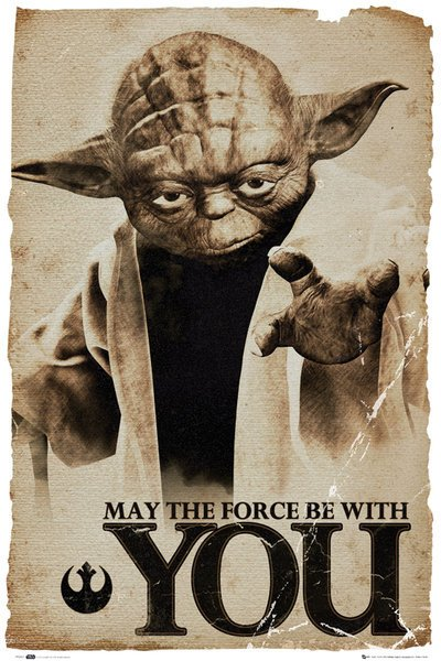 Star Wars - Yoda - May the force be with you