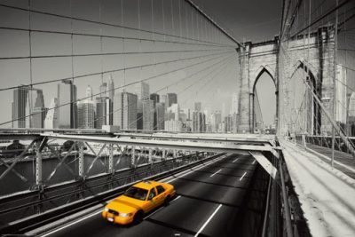 Taxi on Bridge