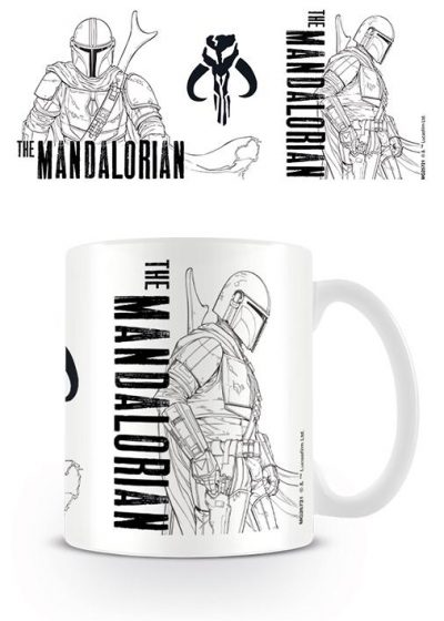 Star Wars - The Mandalorian (Line Art) - Mugg