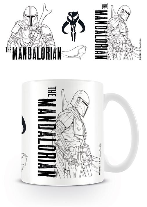 Star Wars - The Mandalorian (Line Art) - Mugg