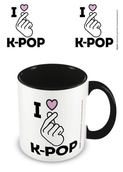 K-Pop - I Love K-Pop - Black - Mugg