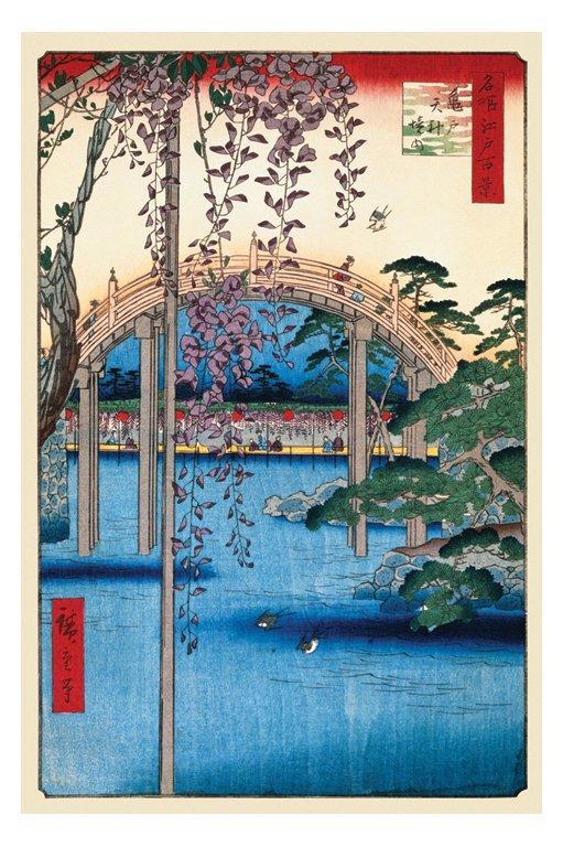 Ando Hiroshige - Grounds Of Kameido Tenjin Shrine - Asiatisk konst
