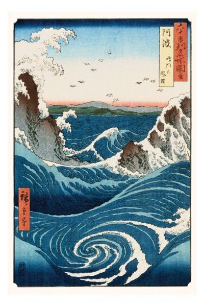 Ando Hiroshige - Whirlpool and waves at Naruto - Asiatisk konst