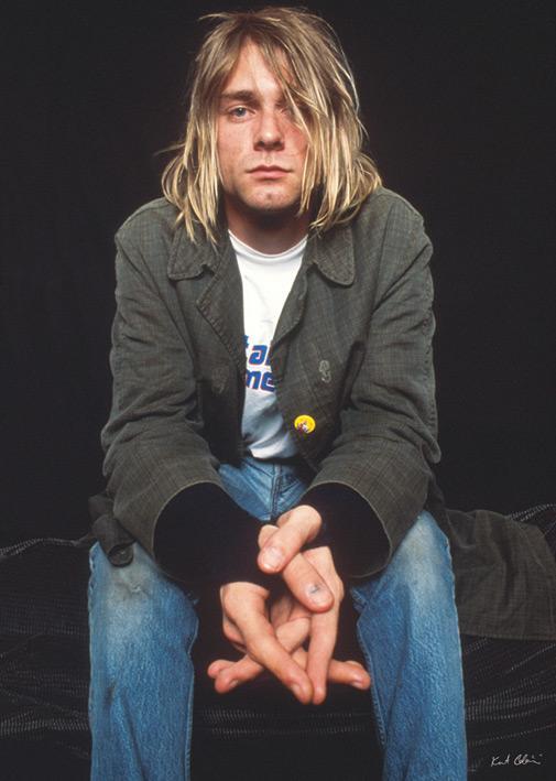 Kurt Kobain - Nirvana - Sitting