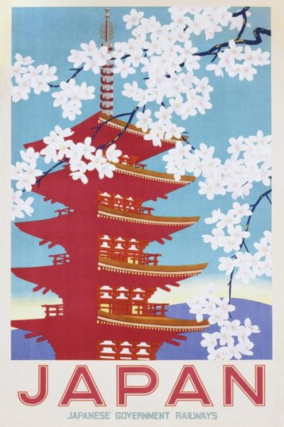 Japanese Goverment Railways - Blossom - Asian Art