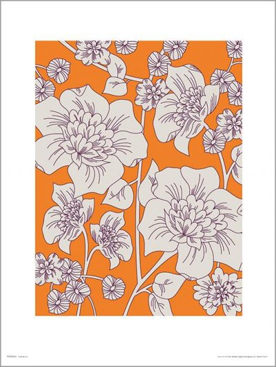 Exklusivt Art Print - Flowes Orange - Blommor i orange