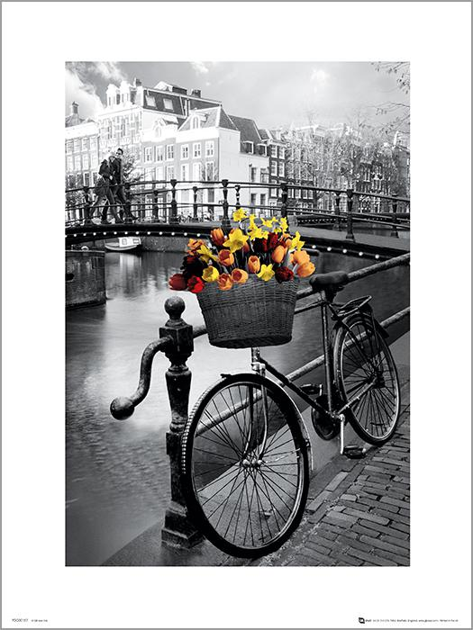 Exklusivt Art Print - Amsterdam Bike