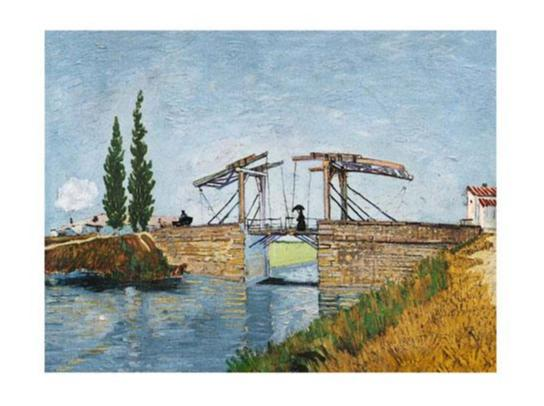 Exklusivt Art Print - Vincent Van Gogh - Le Pontde Langlois