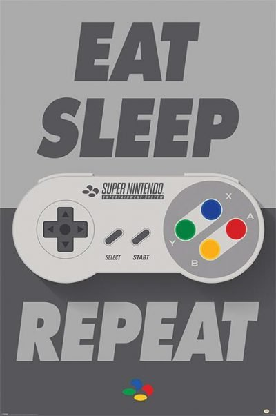 Nintendo - Eat Sleep SNES Repeat
