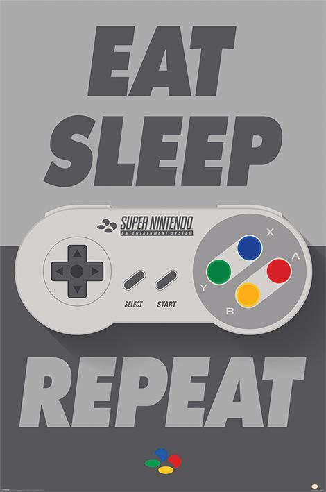 Nintendo - Eat Sleep SNES Repeat
