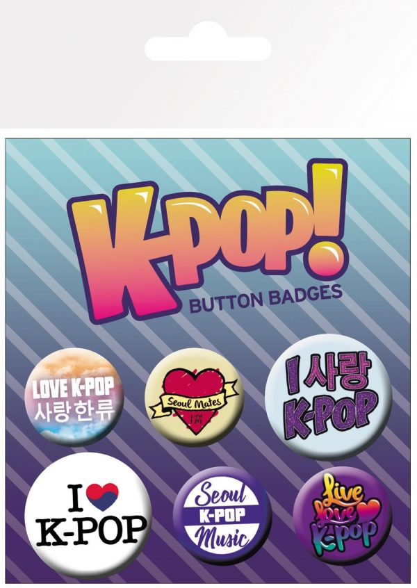 Knappsats - Badge Pack - K-POP Mix