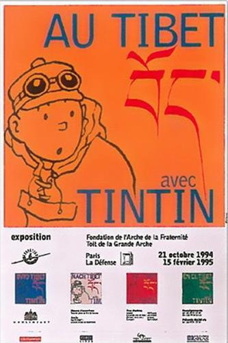 Poster - Utställningsaffisch - Tibet Paris
