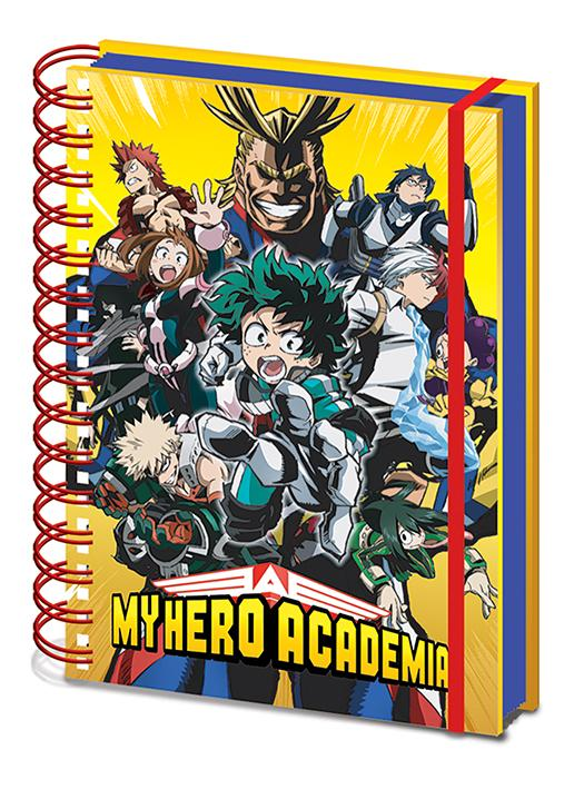 Anteckningsbok - My Hero Academia (Radial Character Burst)