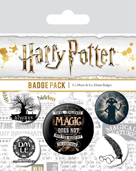 Knappsats - Badge Pack - Harry Potter (Symbols)