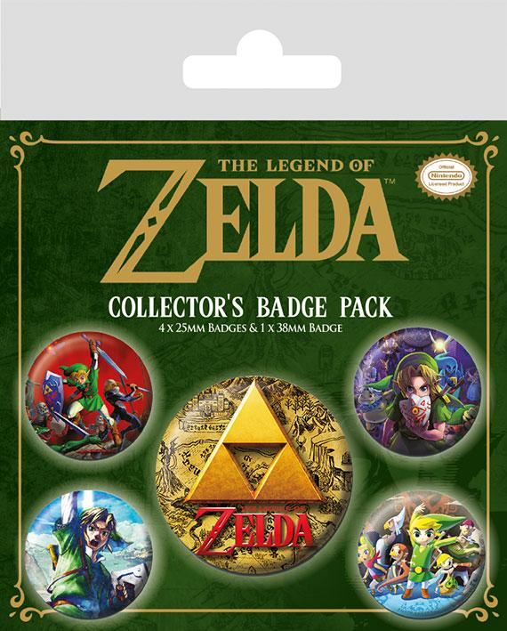 Knappsats - Badge Pack - The Legend Of Zelda (Classics)