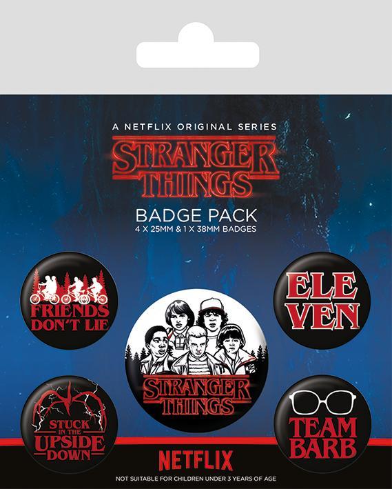 Knappsats - Badge Pack - Stranger Things (Characters)