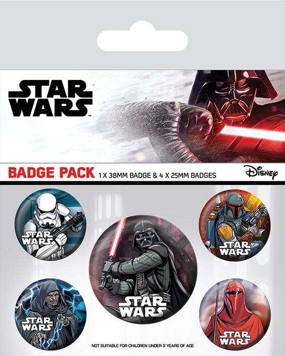 Knappsats - Badge Pack - Star Wars (Dark Side)