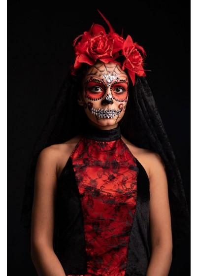 Självhäftande ansiktsdekorationer - Mexican Skull