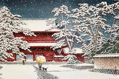 Kawase - Zojo Temple in the Snow – Asiatisk konst