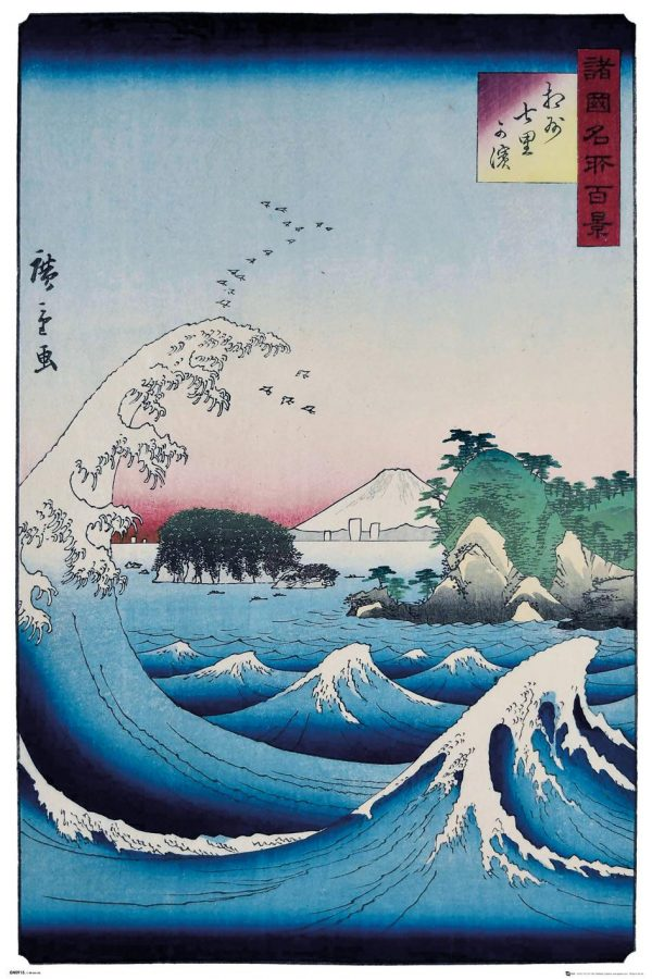 Ando Hiroshige - The Seven Ri Beach – Asiatisk konst