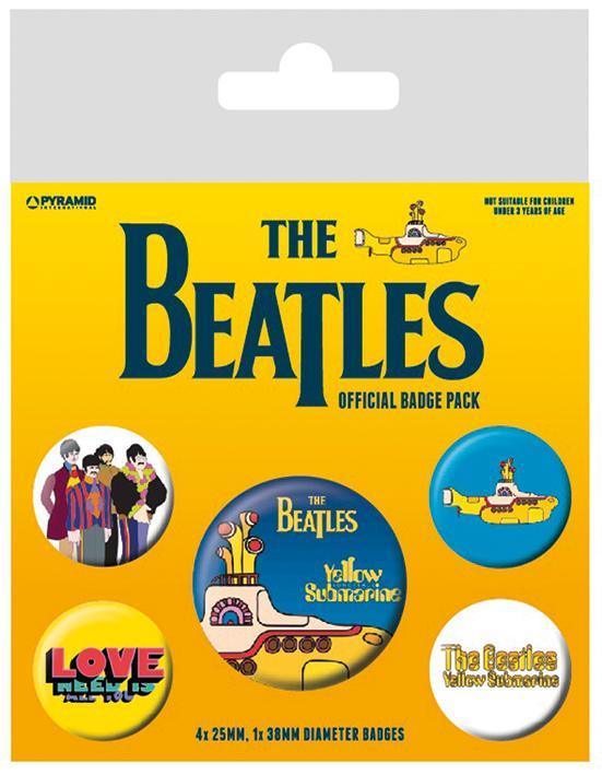 Knappsats - Badge Pack - The Beatles (Yellow Submarine)
