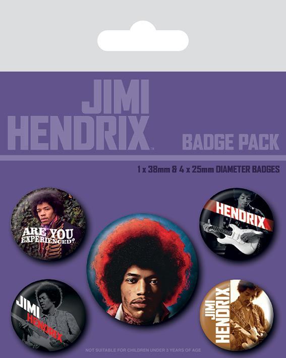 Knappsats - Badge Pack - Jimi Hendrix (Experience)