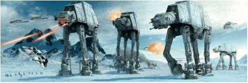 Poster - Star Wars - Hoth battle - ATAT