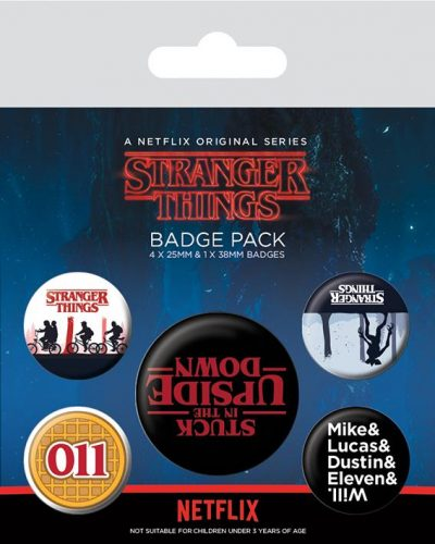 Knappsats - Badge Pack - Stranger Things (Upside Down)