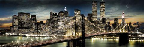 New York - Manhattan - Night and moon