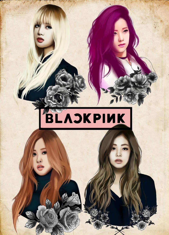 A3 Print - K Pop - Black Pink 2